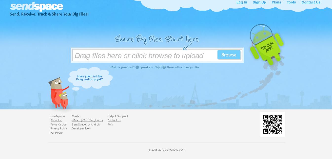 Sendspace Screenshot