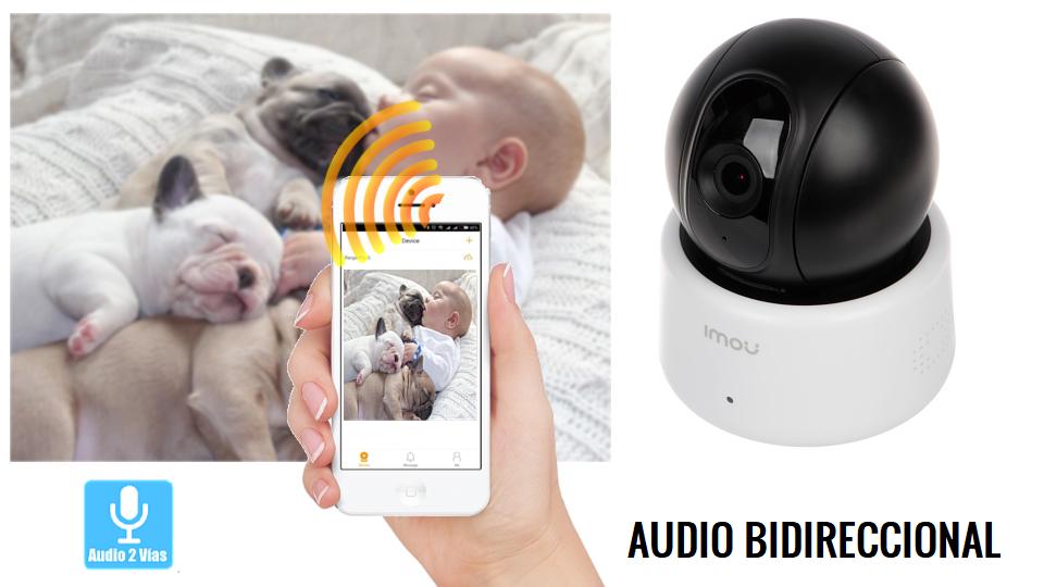 Cámara con audio bidiccional